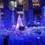 都内クリスマスイルミネーション!青い天の川「カレッタ汐留」