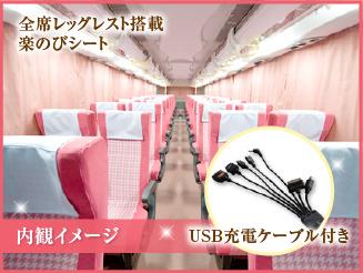 【チェリッシュ※女性専用車※】 4列楽のびシート 大阪→大宮