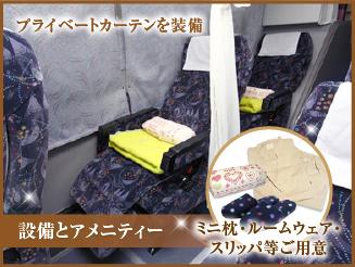 【プルメリアグランデ※女性専用車※】 3列独立シート 大阪→東京
