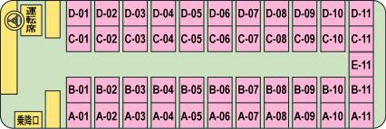 【NTA00002】NT012 ナイトライナー 仙台⇒新宿 スタンダード 【4×11(最後尾5列)【仙台便】】