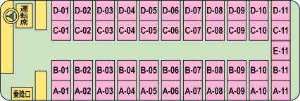 【NTA00011】NT014 ナイトライナー 仙台⇒東京 スタンダード 【4×11(最後尾5列)【仙台便】】