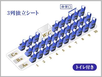 VIPライナー7便  3列独立シート・トイレ付き  なんば→さいたま新都心